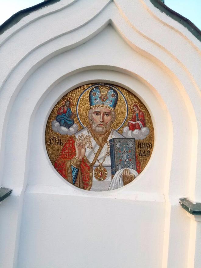 Реставрация фасадной иконы Святителя Николая