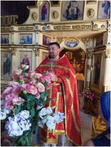 Завершение литургии в Храме 14.08.19